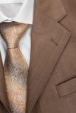 Closeup  jacket, shirt and tie Stock Images