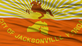 Closeup of Jacksonville City Flag Stock Photography