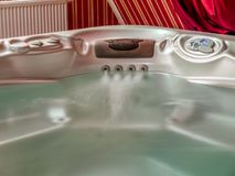 Jacuzzi filled with water Royalty Free Stock Images