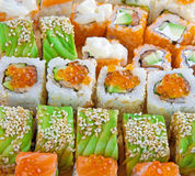 Closeup japanese sushi Stock Image