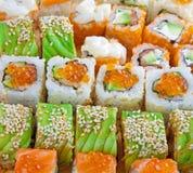 Closeup japanese sushi. A closeup japanese sushi background Stock Image