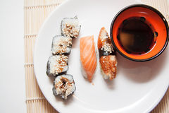 Closeup of japanese sushi Stock Image