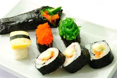 Closeup japanese sushi. Series japanese food Stock Photography