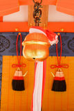 Closeup Japanese temple bell. Royalty Free Stock Images