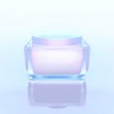 Closeup of jar of moisturizing face  beauty cream. Royalty Free Stock Photo