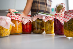 Closeup on jars of pickled vegetables Royalty Free Stock Photography