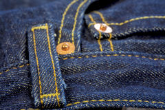 Closeup of a jeans belt loop Royalty Free Stock Images
