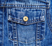 Closeup jeans pocket with button Stock Images
