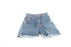 Closeup the Jeans shorts. Royalty Free Stock Image