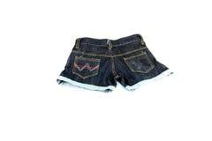 Closeup the Jeans shorts. Stock Photo