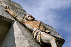 Closeup Jesus on the cross Stock Photo