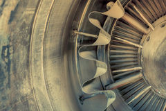 Closeup of a jet engine Royalty Free Stock Image