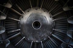 Closeup of a jet engine Stock Photo