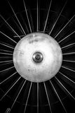 Closeup of a jet engine Royalty Free Stock Photo