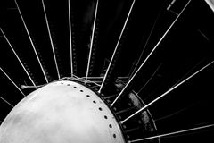 Closeup of a jet engine Royalty Free Stock Photography