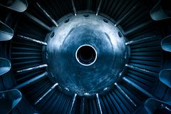 Closeup of a jet engine Royalty Free Stock Images