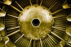 Closeup of a jet engine Stock Photography