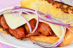 Meatball Sandwich Royalty Free Stock Images