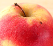 Closeup juicy red apple Stock Photography