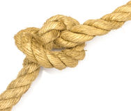 Closeup jute rope Royalty Free Stock Photos