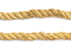 Closeup jute rope Stock Photos