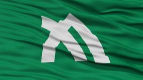 Closeup Kagawa Japan Prefecture Flag Arkivbilder
