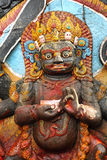 Closeup of Kal Bhairav statue Stock Photography