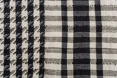 Closeup of a keffiyeh pattern. (as a black and white fabric background Royalty Free Stock Images
