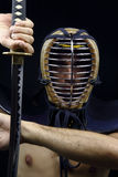 Closeup of  kendo man Stock Images