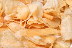 Closeup of kettle chips Royalty Free Stock Image