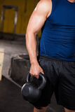 Closeup of a kettlebell Stock Photography