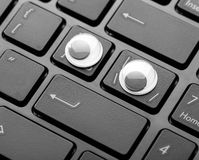 Closeup keyboard of a modern laptop Royalty Free Stock Image