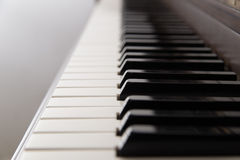 Closeup of the keys of a grand piano Royalty Free Stock Photos