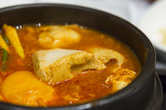 Closeup kimchi stew with tofu korean cuisine Stock Photos