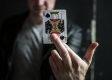 Closeup of king of spades card Stock Images