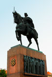 Closeup of King Tomislav (first Croatian king) statue in Zagreb, Stock Photography