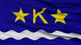 Closeup Kinshasa City Flag, Dr Congo Royalty Free Stock Photo