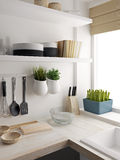 Closeup of kitchen room design Stock Photo