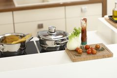 Closeup kitchen worktop Royalty Free Stock Image
