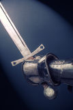 Closeup of knight's hand Royalty Free Stock Images