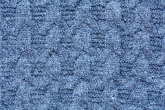 Closeup of knitted wool pattern Royalty Free Stock Image