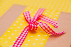 Closeup knot on the gift box Royalty Free Stock Photo