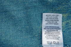 Closeup label for laundry Royalty Free Stock Images
