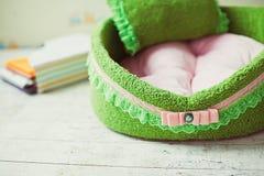 Closeup lace of green pet mattress Royalty Free Stock Photos