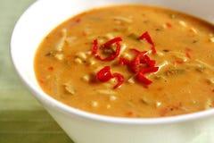 Closeup of Laksa soup Stock Photos