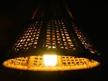 Closeup of lamp in dark room Stock Photography
