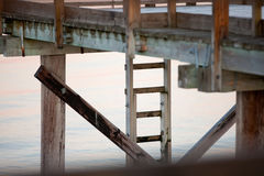 Landing stage. Closeup of a Landing stage in the morning Royalty Free Stock Image