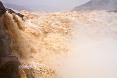 Closeup landscape of Yellow River Waterfall Stock Photos