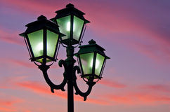 Closeup of a lanterns at sunset in landscape orientation Stock Photography