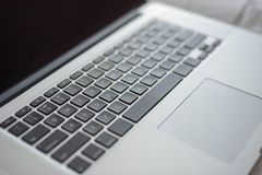 Closeup of laptop computer keyboard. For business or technology concept Stock Photography